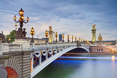 Paris. Image of the Alexandre III Bridge located in Paris, France Royalty Free Stock Photos