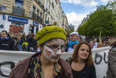Paris, Indignants Protest Elections Royalty Free Stock Photos