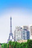 Paris industrial kind on Eiffel tower and building Stock Images