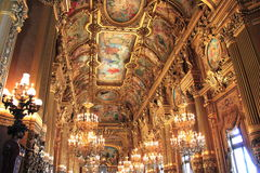 Paris: Interior of Opera Garnier Stock Photo