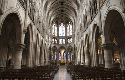 Paris - interior of Saint Severin church Royalty Free Stock Photos