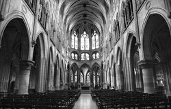 Paris  - interior of Saint Severin church Royalty Free Stock Images