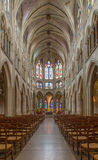 Paris - interior of Saint Severin gothic church Stock Images