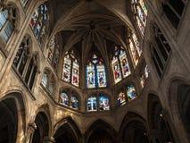 Paris - Interiors of the Sainte-Chapelle Royalty Free Stock Photo