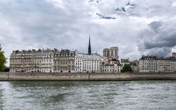 Paris - The Ile de la Cité royalty free stock photos