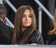 Paris Jackson, Cirque du Soleil, Michael Jackson. Michael Jackson's daughter Paris Jackson on Hollywood Boulevard where they placed their father's hand & royalty free stock photo
