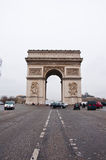 PARIS-JANUARY 10: The Arc de Triomphe from Champs-�lys�es on January 10,2013 in Paris. Stock Photo