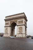 PARIS-JANUARY 10: The Arc de Triomphe in the winter on January 10,2013. Stock Photo