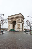 PARIS-JANUARY 10: Southwest side of the Arc de Triomphe on January 10,2013 in Paris. Royalty Free Stock Photo
