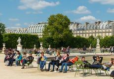 paris Jardim de Tuileries Fotos de Stock Royalty Free