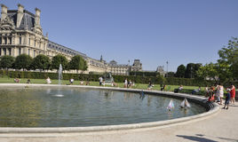 Paris, jardim 18,2013-Tuileries august em Paris França Fotos de Stock