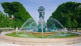 Paris, Jardin du Luxembourg. Jardin du Luxembourg in Paris, fountain with horses stock images