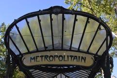 Paris-Jugendstilstationszeichen Stockfoto