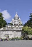 Paris Juli 17: Basilika Sacre Coeur från Montmartre i Paris Royaltyfria Bilder