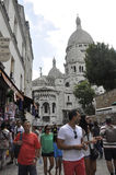 Paris, am 17. Juli: Basilika Sacre Coeur von Montmartre in Paris Lizenzfreies Stockfoto