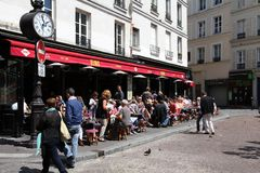 Cafe i Paris Royaltyfri Fotografi