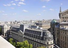 Paris Juli 15: Flyg- sikt av Paris från Frankrike Arkivbilder