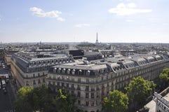 Paris Juli 15: Flyg- sikt av Paris från Frankrike Arkivbild
