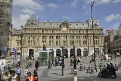 Paris Juli 15: Gare helgon Lazare från Paris i Frankrike Royaltyfri Foto
