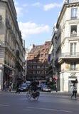 Paris Juli 15: Gatasikt i Paris från Frankrike Arkivbilder