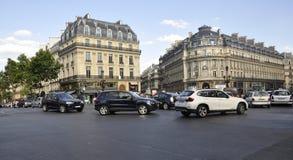 Paris Juli 18: Gatasikt i Paris från Frankrike Arkivbild
