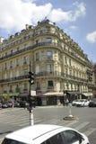 Paris Juli 15: Gatasikt i Paris från Frankrike Royaltyfria Bilder
