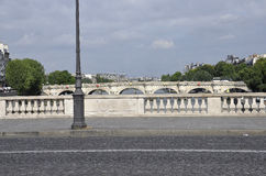 Paris, am 18. Juli: Pont- Neufansicht über die Seine von Paris in Frankreich Stockbild