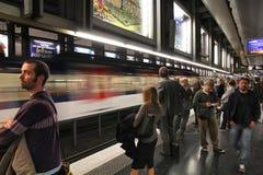 Paris Metro Fotografering för Bildbyråer