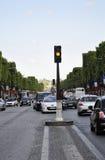 Paris Juli 14th: Champs-Elysees aveny på nationell dag i Paris från Frankrike Royaltyfria Foton