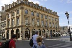 Paris Juli 18th: Historiska byggnader från Paris i Frankrike Royaltyfri Bild