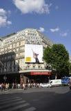 Paris Juli 15th: Lafayette Galeries ingång från Paris i Frankrike Arkivfoto