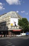 Paris Juli 15th: Lafayette Galeries ingång från Paris i Frankrike Royaltyfri Bild