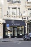 Paris Juli 18th: Lalique Magasin från Paris i Frankrike Arkivbilder