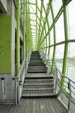 Paris Juli 18th: Les Docs på banken av Seine River från Paris i Frankrike Arkivfoto