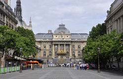 Paris Juli 18th: Rättvisa Ministry Building från Paris i Frankrike Arkivfoton