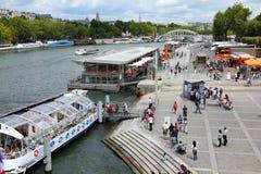 Seine Paris arkivbild