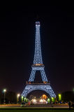 PARIS - JULY 31: Eiffel Tower illuminated at night, view from th Stock Photography