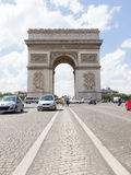 PARIS - JULY 28: Arc de triomphe on July 28, 2013 in Place du Ca Royalty Free Stock Photography