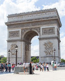 PARIS - JULY 28: Arc de triomphe on July 28, 2013 in Place du Ca Royalty Free Stock Images
