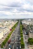 Paris, July 2017: Avenue de Champs-lyses. Paris, France. Royalty Free Stock Image
