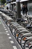 Bicycle sharing in Paris Royalty Free Stock Photography