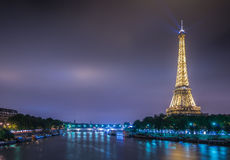 PARIS - JULY 12, 2013: Eiffel Tower on July 12 Stock Photos