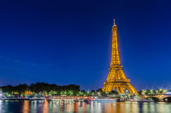 PARIS - JULY 12, 2013: Eiffel Tower on July 12 Royalty Free Stock Photos