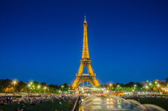 PARIS - JULY 12, 2013: Eiffel Tower on July 12 Royalty Free Stock Images