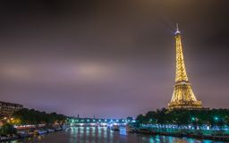 PARIS - JULY 12, 2013: Eiffel Tower on July 12 Royalty Free Stock Image