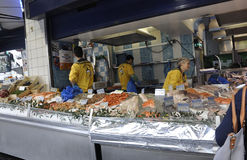 Paris,July 17:Fish and Seafood Store in Montmartre in Paris Royalty Free Stock Images