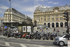 Paris,July 15:Gare Saint Lazare from Paris in France Royalty Free Stock Image