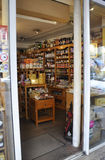 Paris,July 17:Grocery interior in Montmartre in Paris stock image