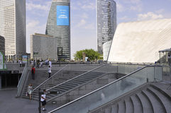 Paris,July 16:La Defense buildings in Paris from France Royalty Free Stock Photo