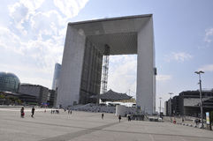 Paris,July 16:La Defense with Grande Arch in Paris from France Royalty Free Stock Photography